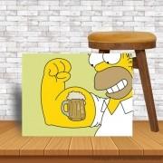 Placa Decorativa Homer Simpson Cerveja e Força