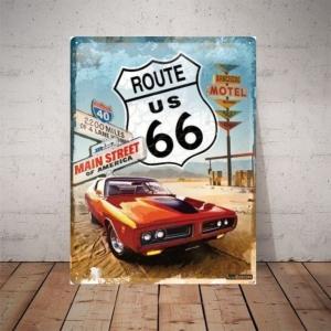 Placa Decorativa Main Street Route 66