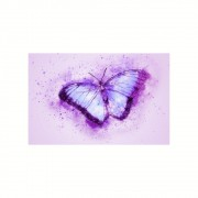 Placa Decorativa MDF Borboleta Lilas Abstrato