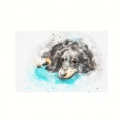 Placa Decorativa MDF Cachorro Esperando Abstrato