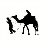Placa Decorativa MDF Silhueta Camelo no Deserto
