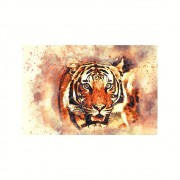 Placa Decorativa MDF Tigre Esotérico Abstrato