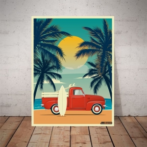 Placa Decorativa Summer Vacation