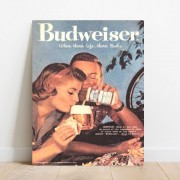 Placa Decorativa Vintage Bar Cartaz Cerveja Budweiser