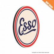 Placa Esso Retro Vintage em MDF 9mm