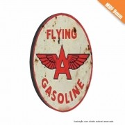 Placa Flying Gasoline Vintage em MDF 9mm