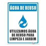 Placa PVC Água de Reuso Utilizada na Limpeza