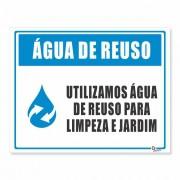 Placa PVC Água de Reuso Utilizada para Limpeza
