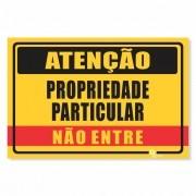 Placa PVC Atenção Propriedade Particular