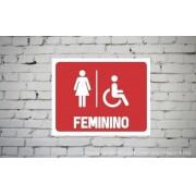 Placa PVC Banheiro Feminino Acessibilidade
