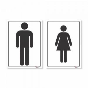 Placa PVC Banheiro Masculino e Feminino
