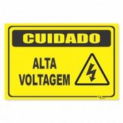 Placa PVC Cuidado Alta Voltagem
