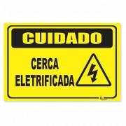 Placa PVC Cuidado Cerca Eletrificada