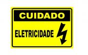 Placa PVC Cuidado Eletricidade