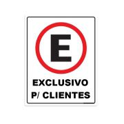 Placa PVC Estacionamento Exclusivo para Clientes