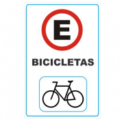 Placa PVC Estacionamento para Bicicletas