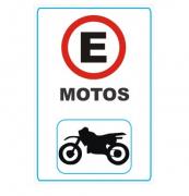 Placa PVC Estacionamento para Motos