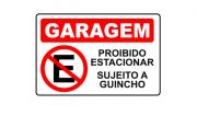 Placa PVC Garagem Proibido Estacionar Sujeito a Guincho