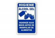 Placa PVC Higiene Use Álcool em Gel