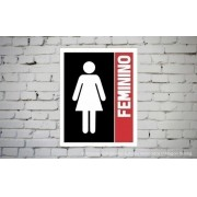 Placa PVC Indicativa Banheiro Feminino