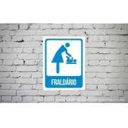 Placa PVC Indicativa de Fraldário