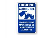 Placa PVC Indicativa Higiene Álcool em Gel