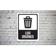 Placa PVC Indicativa Lixo Orgânico