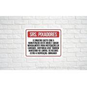 Placa PVC Informação aos Pixadores