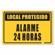 Placa PVC Local Protegido 24h