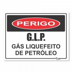 Placa PVC Perigo GLP Gás Liquefeito de Petróleo