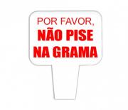 Placa PVC Por Favor não Pise na Grama