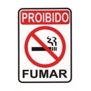 Placa PVC Proibido Fumar 23x18cm