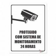 Placa PVC Protegido com Sistema de Monitoramento 24h