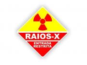 Placa PVC Raio-X Entrada Proibida