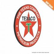 Placa Texaco Vintage em MDF 9mm