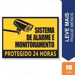 Placas Sistema de Alarme Pct c/10 un PS2mm 20X27cm