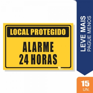 Placas Sistema de Sinalização24hrs Pct c/15 un PS1mm 15X20cm