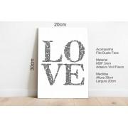 Quadro Decorativo Mensagem Oculta Love 20x30cm Branco