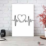 Quadro Decorativo Série Love Collection Abstrato Batimentos