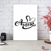 Quadro Decorativo Série Love Collection Amor Arabesco