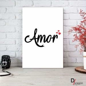 Quadro Decorativo Série Love Collection Amor Intenso