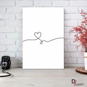 Quadro Decorativo Série Love Collection Arabesco Coração