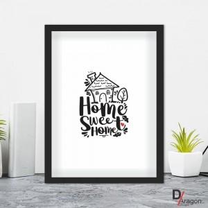 Quadro Decorativo Série Love Collection Home Sweet Home