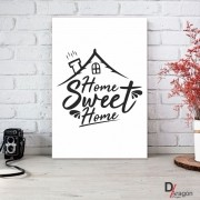 Quadro Decorativo Série Love Collection Home Sweet Homee