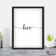 Quadro Decorativo Série Love Collection Love