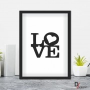 Quadro Decorativo Série Love Collection Love Black