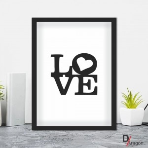 Quadro Decorativo Série Love Collection Love Black
