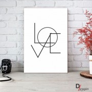 Quadro Decorativo Série Love Collection Love Geométrico