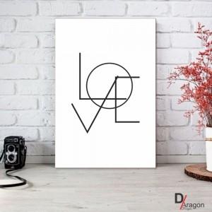 Quadro Decorativo Série Love Collection Love Geométrico