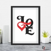 Quadro Decorativo Série Love Collection Love Heart Red